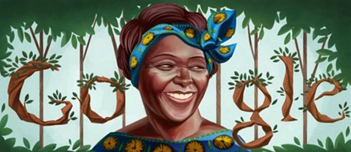 Google doodle celebrates activist Wangari Maathai